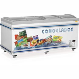 Expositor-Ilha-Skin-Condenser-Dupla-Acao-para-Congelados-ou-Resfriados-Vidro-Curvo-Deslizante-Colarinho-em-ABS-Gelopar